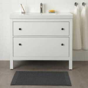 Ikea Alstern bath mat 50x80cm dark gray