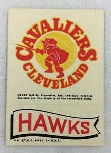 NBA 1973 Topps Basketball Insert - Cleveland Cavaliers - Hawks