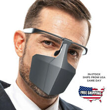 NEW Plastic Face Shield Mask Safety Glasses Protection Reusable Washable USA