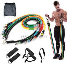 11x Elastiche Bande Fasce Allenamento Fitness Resistenza Elastici Palestra Set