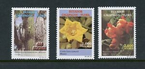 D048 Équateur 1998 Flore Fleurs Galapagos 3v. MNH
