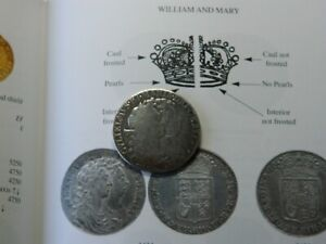 William & Mary silver Half crown coin dated 1689 Love token detecting detector