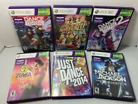 Xbox 360 Kinect Games Lot Bundle Dance Exercise Fitness Complete | Ships Fast!