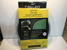 New Cabled Outdoor 12V LED Linear Strip Lighting Kit 12ft Garden/ Yard / Walkway