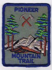 1960's Trail Patch Pioneer Mountain Trail BLU Brd BLU Bkg 600231