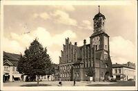 Wittstock Bezirk Potsdam Brandenburg DDR s/w AK 1956 gelaufen Markt mit Rathaus
