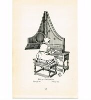 CLAVICYTHERIUM (EARLY PIANO), BOOK ILLUSTRATION, c1919