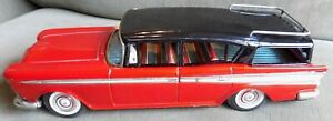 Vtg Rambler Rebel Bandai Friction Tin Car in Box Automobiles of the World 50's