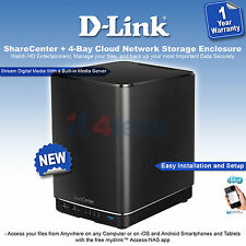 D-link ShareCenter DNS-340L 4-Bay Network Storage Enclosure Remotely Manage Data