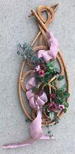 """Wood Design 8.5X20"""" Pink Red Silk Flower Arrangement"""