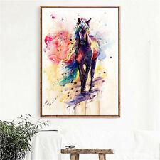 Watercolour Horse Canvas Picture Print Poster Wall Modern Art Home Decor Unframe
