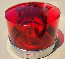 Vintage 1986 Large Grote 7624 Red Rotating Beacon Light