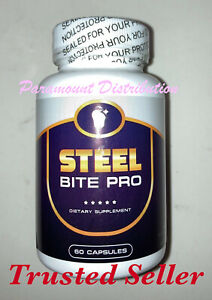 Steel Bite Pro #1 Teeth & Gums Oral Health Strengthen Stop Pain Sensitive Cavity