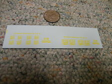 Herald King decals HO Soo Line 6 pairs heralds yellow 1.5' and 2.25'    XX96