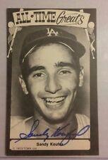 SANDY KOUFAX Signed Postcard JSA Authenticated Autograph Vintage DODGERS