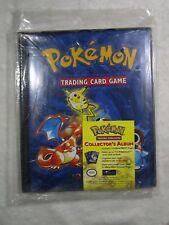1999 4 Pocket Pokemon Collector's Album CHARIZARD WOTC era original sealed   B43