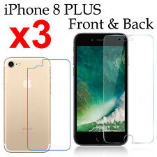 x3 Anti-scratch 4H PET film screen protector Apple iphone 8 PLUS front + back