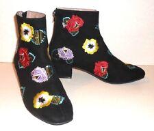 BETSEY JOHNSTON($128RRP) Block Heel Black Women's Booties Size 6.5(40)- New
