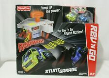 FISHER PRICE REV N GO STUNT GARAGE CAR LAUNCHER 2 CARS New Pretend Play Toy