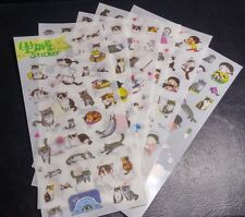Cute Kitty Cat Sticker Set - for Books, Pages, Folders, Ornaments