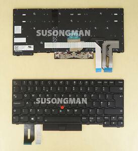 New UK Keyboard For Lenovo ThinkPad Yoga L380 L390, YOGA S2 3RD GEN Backlit