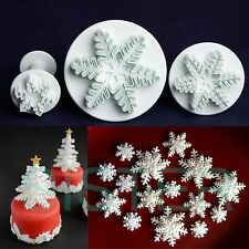Cake Decorating Snowflake Plunger Cutter Sugarcraft Fondant Icing Baking Tool MM