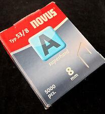 5000 Stk Tackerklammern Novus Typ A 53/8  8x11,3mm SuperHard  # 042-0517
