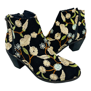 I love Billy Boots EU 37 Multicolour Floral Embroider Side Zip Round Toe