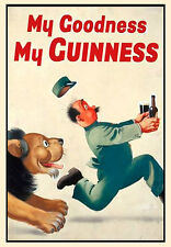 -A3- My Goodness My Guinness - Retro Vintage Alcohol Bar Pub Posters #34