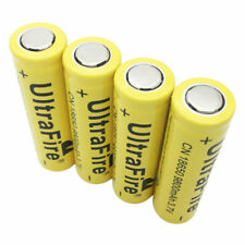 4X18650 Li-ion Battery 3.7V 9800mAh Rechargeable Flat Top for Flashlight Torch