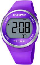 Calypso Digital Ladies Wrist Watch Plastic Housing & Band > Purple Date > Al