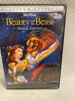 Beauty and the Beast (DVD, 2002, 2-Disc Set, Platinum Edition) w/ Slip Disney