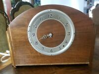 Vintage PLYMOUTH Wooden Mantle Clock