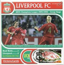 Liverpool 2005-06 Real Betis (Pongolle) Football Stamp Victory Card #508