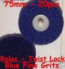 "ROLOC SMART REPAIR 20pcs -  75mm 3"" SURFACE CONDITIONING (BLUE) FINE GRITS"