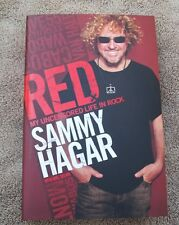 *SAMMY HAGAR*SIGNED*BOOK*RED MY UNCENSORED LIFE IN ROCK*1ST EDITION & 1ST PRINT*