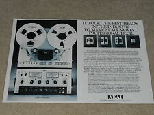 Akai Pro-1000 Ultimate Open Reel Ad, 1978, specs, Articles, 2 pages