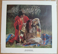 Penni Anne Cross  Pretty Colours Many Designs  Fine Art Print Indian Man & Woman