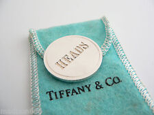 Tiffany & Co Silver Heads Tails Round Circle Coin Rare Super Cool!