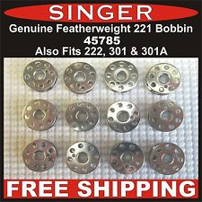 Genuine Singer Featherweight Bobbin Fits 221, 222 & 301, 301A Free Shipping!