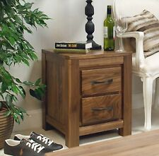 Oskar solid walnut home furniture two drawer side end lamp bedside table