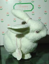 Dept 56 Snowbunnies Bisque Large Easter Bunny Rabbit 1997 With Box And Tag