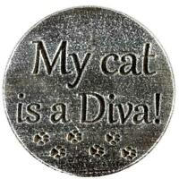 """Plastic cat diva plaque mold garden ornament stepping stone 7.75"""" x 3/4"""" thick"""
