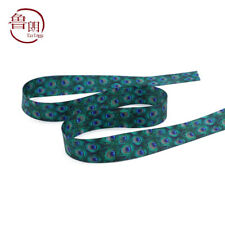 "Lot 1 yards(22mm) 7/8"" colorful gradient two sides printing satin ribbon DIY J13"