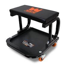 Mechanic Creeper Seat Garage Rolling Work Shop Stool Cart Tray Storage Cart Ch