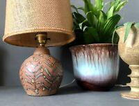 Kersey Studio Pottery Stoneware Lamp Base. Vintage British Studio Pottery