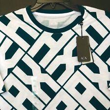 ARMANI EXCHANGE AX GREEN WHITE TEE T-SHIRT Men's XL REGULAR FIT NEW $45