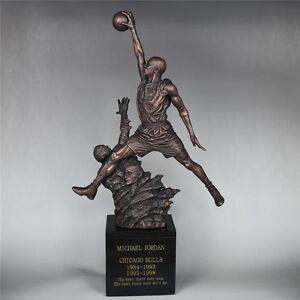 "New Michael JORDAN 23 Mike Jordan Resin Statue Basketball Myth 20""H Gift Decor"
