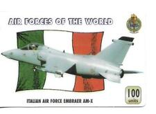RARE / CARTE TELEPHONIQUE - AVION DE CHASSE : ITALIE AIR FORCE EMBRAER PHONECARD