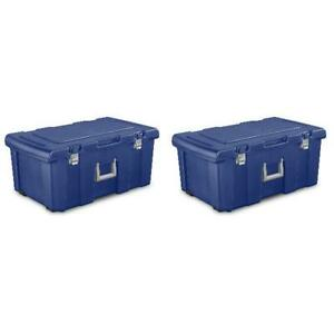 Sterilite Footlocker Stadium Blue Case of 2